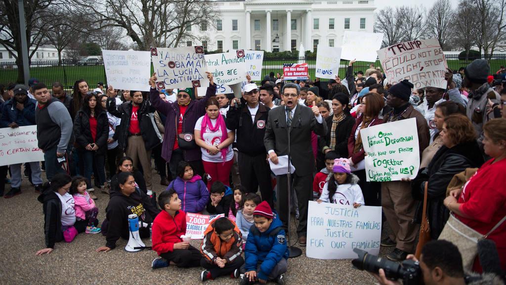 Protesta por derechos de los inmigrantes