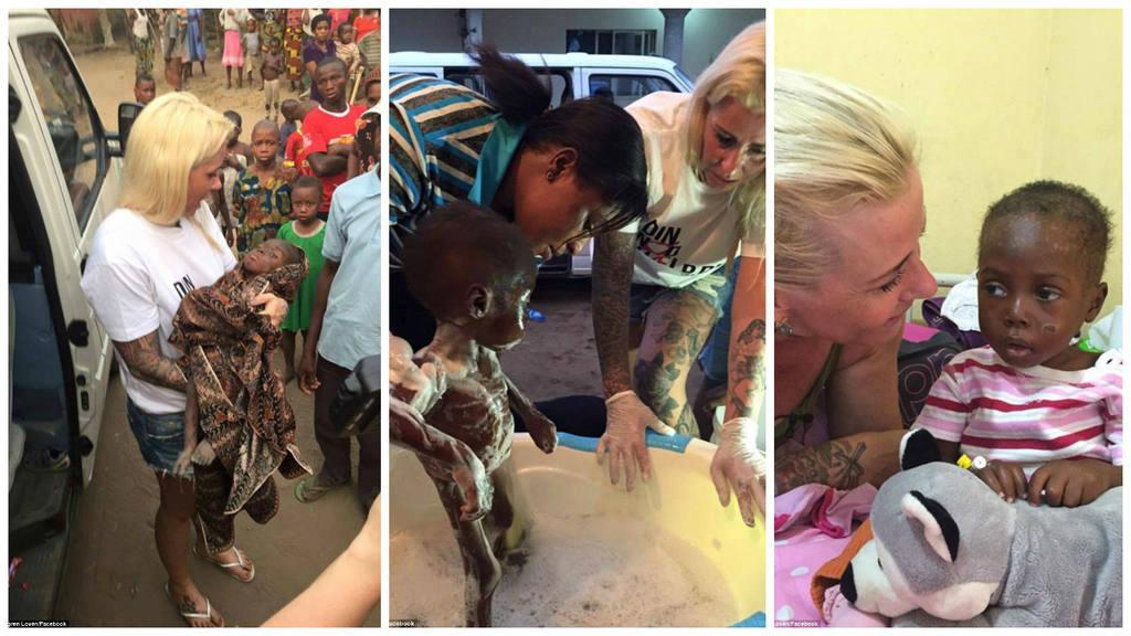 La danesa Anja Ringgren Loven fue quien hallo al niño nigeriano deambulando desnudo por las calles.