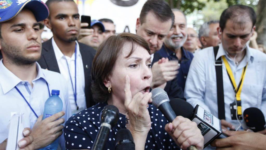 Mitzy Capriles, esposa del preso político Antonio Ledezma.