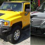 Foto de referencia de los autos Lexus LX 570 año 2010 y Hummer H3 año 2006