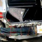 Este inmigrante de Guinea fue descubierto en el intento de cruzar a España, atado al bómper  de un auto.