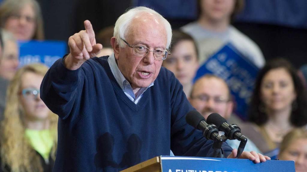 Bernie Sanders campaigns in New Hampshire