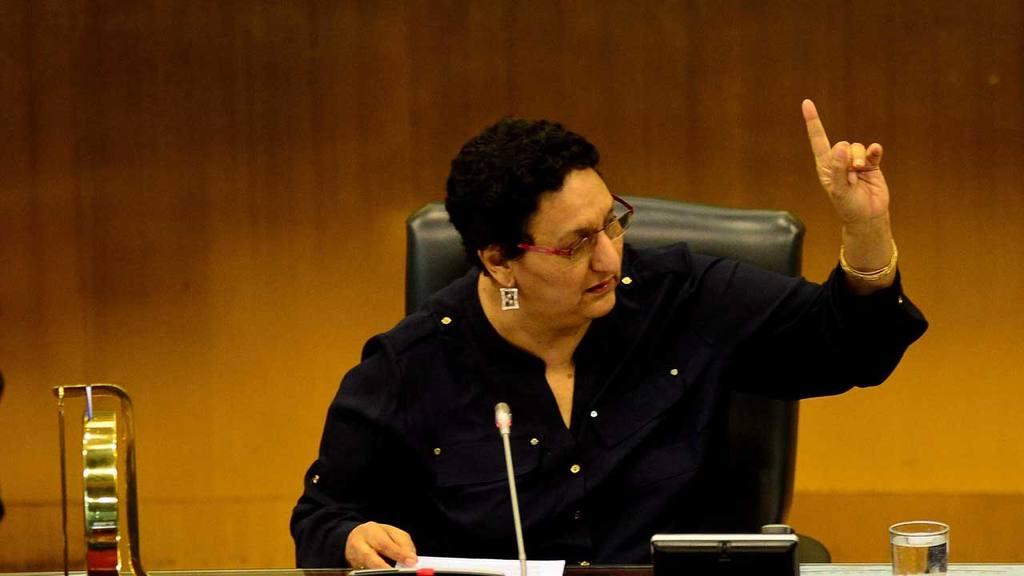 Lorena Peña, presidenta de la Asamblea Legislativa.