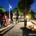 Altar a familia asesinada en Santa Tecla