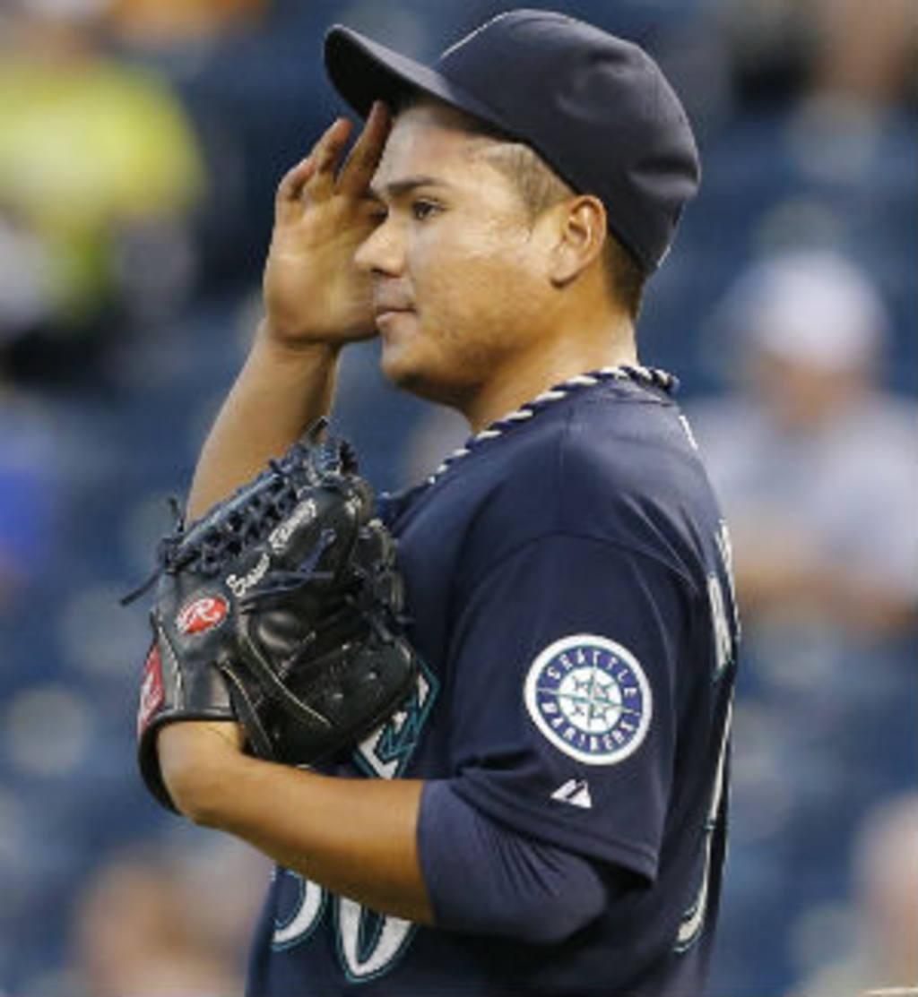 Erasmo Ramírez, el martes por la noche en el estadio de Kansas. Foto EDH / AP.