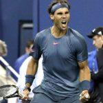 Rafael Nadal festeja tras vencer a su compatriota español Tommy Robredo en los cuartos de final del Abierto de Estados Unidos el miércoles 4 de septiembre de 2013. Foto EDH/ AP