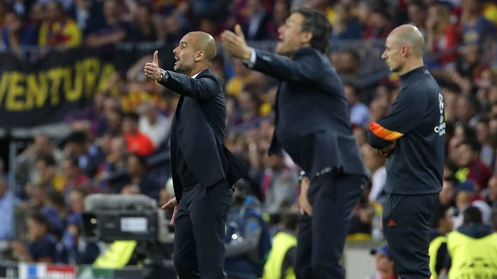 Bayern's head coach Pep Guardiola