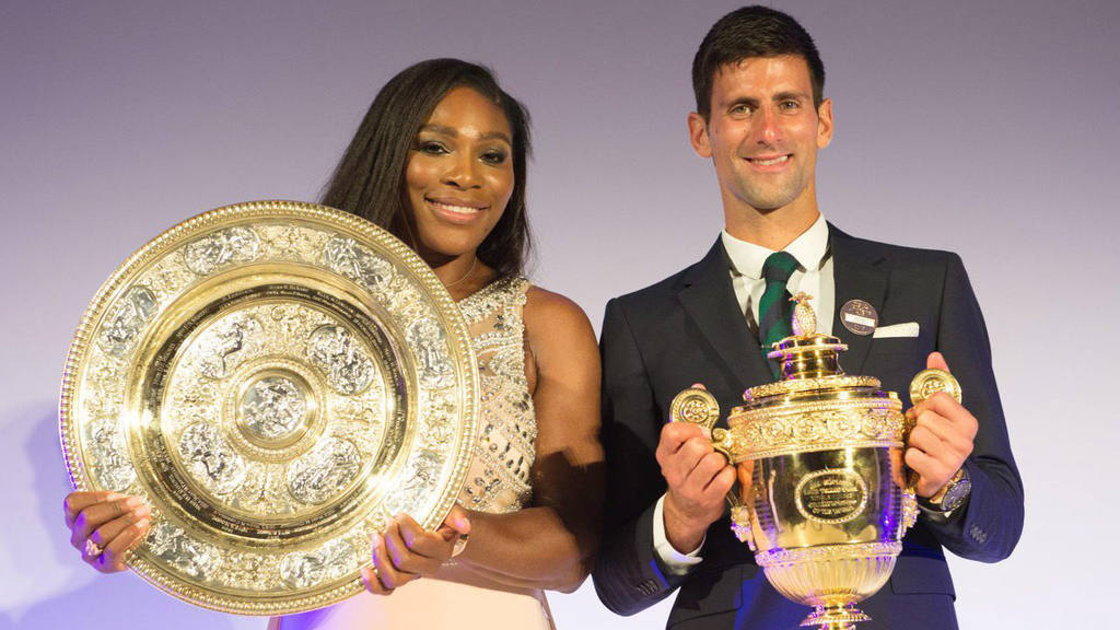 Novak Djokovic y Serena Williams