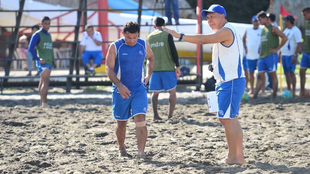 Los guerreros de playa listos para la batalla