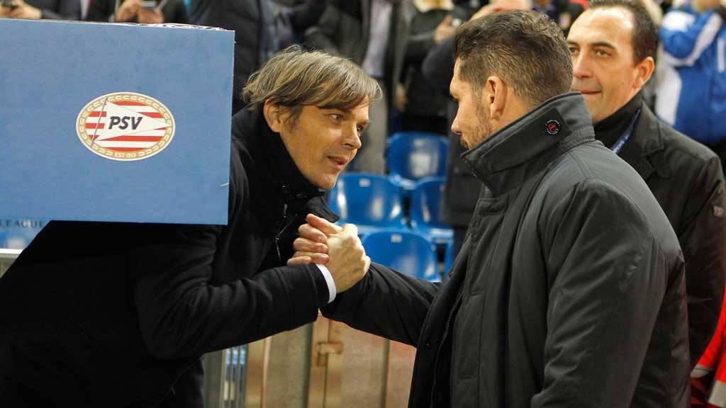 PSV's coach Phillip Cocu