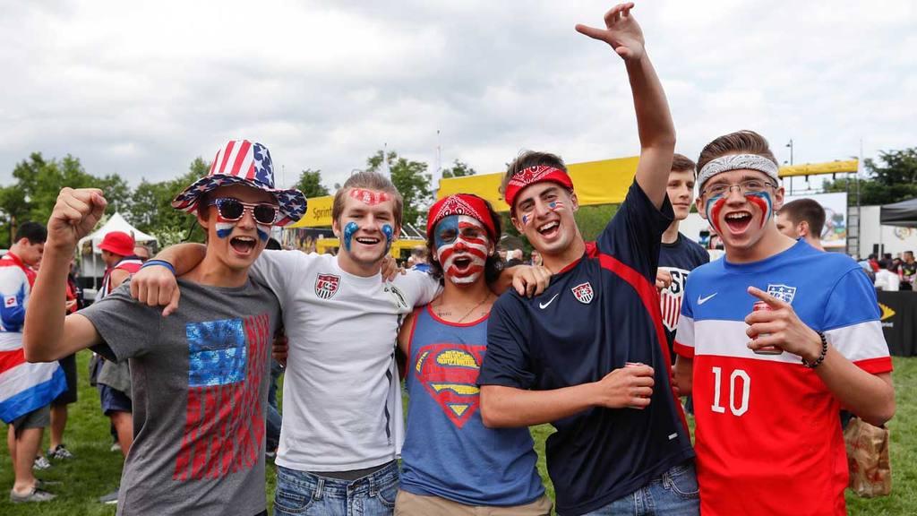 Previos al partido Estados Unidos - Costa Rica