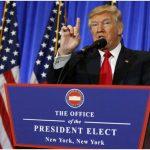 Donald Trump brindó su primera conferencia como presidente electo de Estados Unidos.