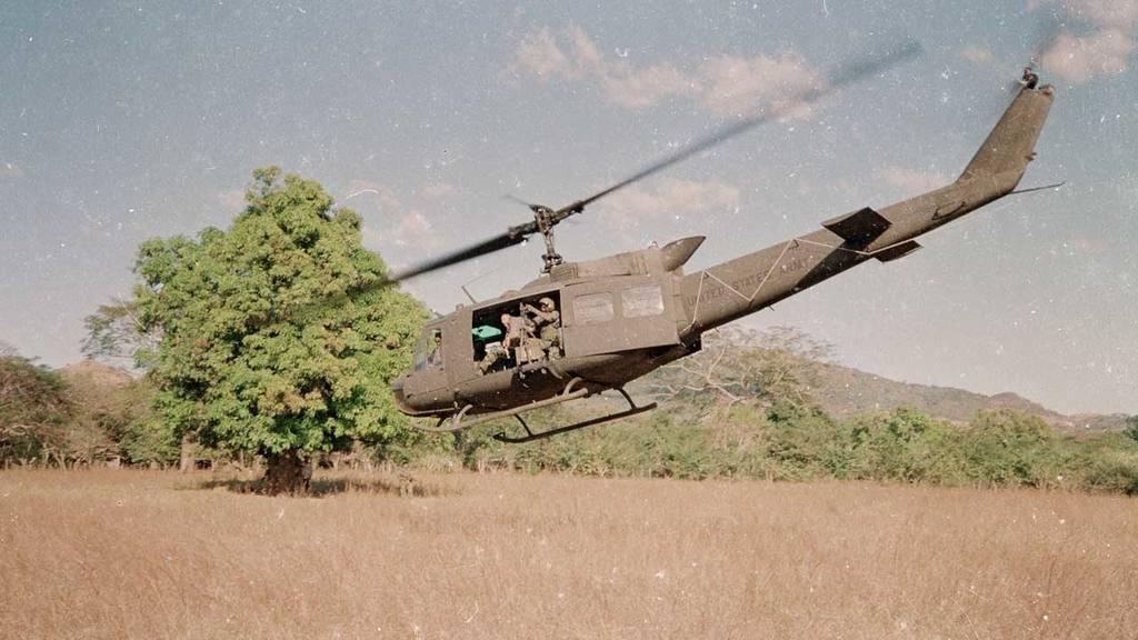 Helicóptero derribado en Lolotique