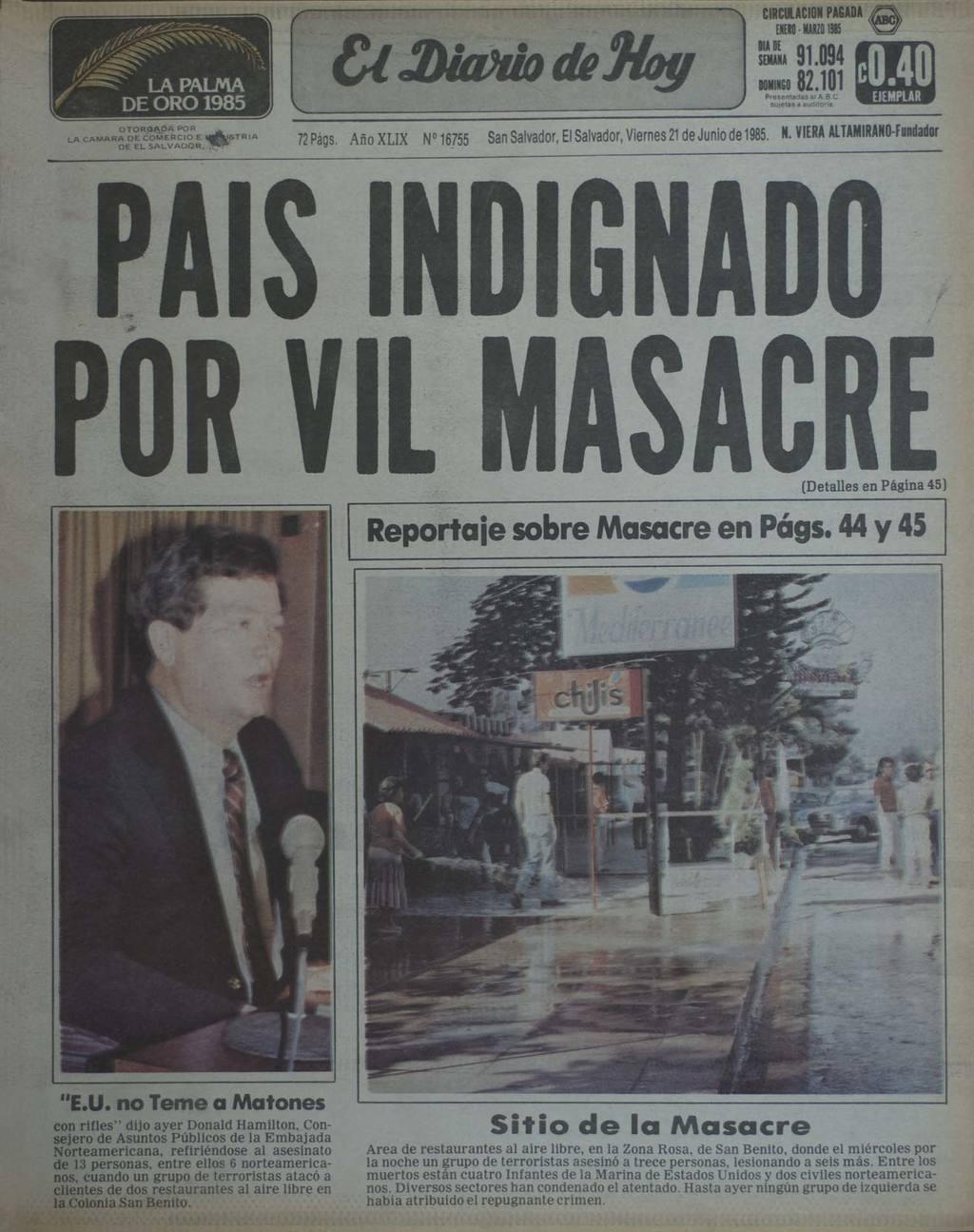 Los casos de  Lolotique y la Zona Rosa ocuparon la portada de los medios locales