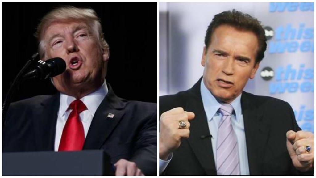 Arnold Schwarzenegger versus Trump
