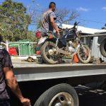 Decomiso de motos en Santa Ana