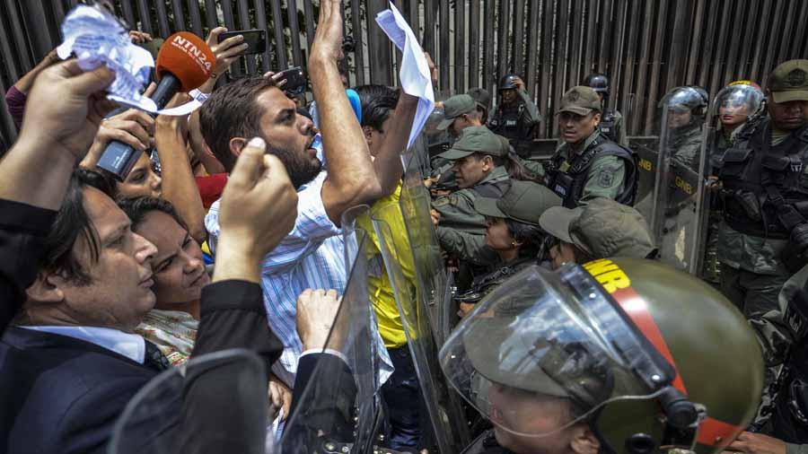 Protesta opositores ev  Venezuela