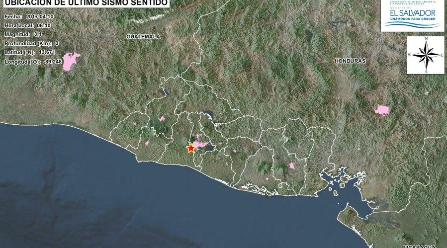 Sismo de 5.1 grados deja un fallecido en El Salvador