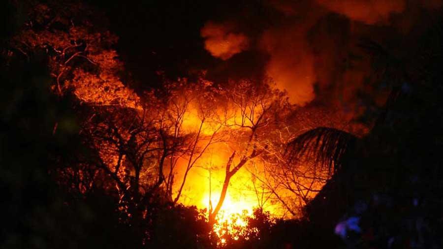 Incendio fabrica de velas