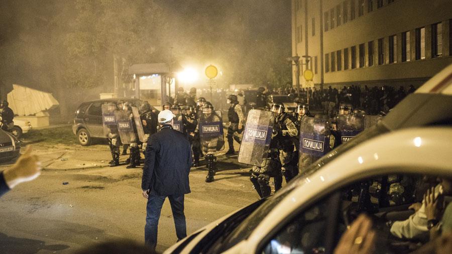Macedonia Disturbios