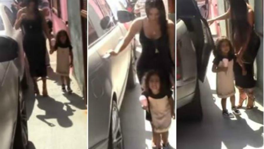 Hija de Kim Kardashian y Kanye West odia a los paparazzis