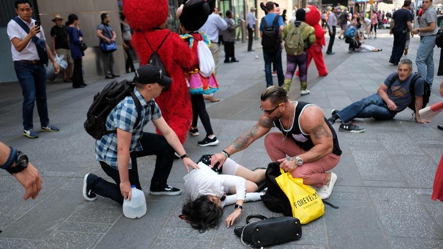 Dramático video de argentino que se salvó en Times Square