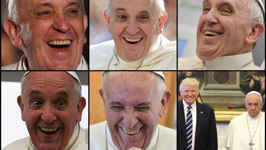 Resultado de imagen para memes trump y el papa