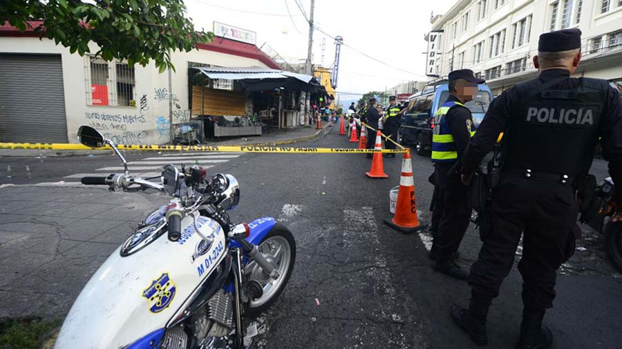 Heridos durante tiroteo en el Centro de San Salvador