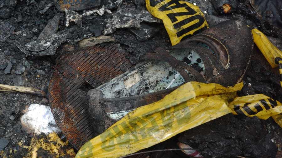 Microbús quemado Mejicanos