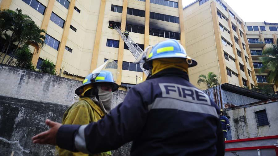 Incendio Ministerio de Hacienda