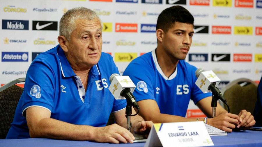 Copa Oro 2017: El Salvador vs Curazao. Preparacion del juego. Eduardo-Lara-Nelson-Bonilla
