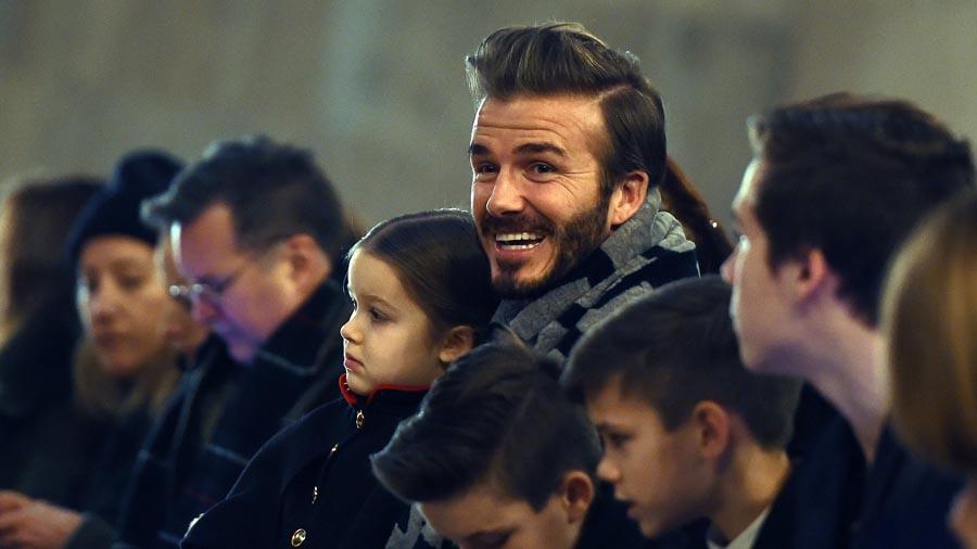 David Beckham le construyó un castillo a su hija Harper