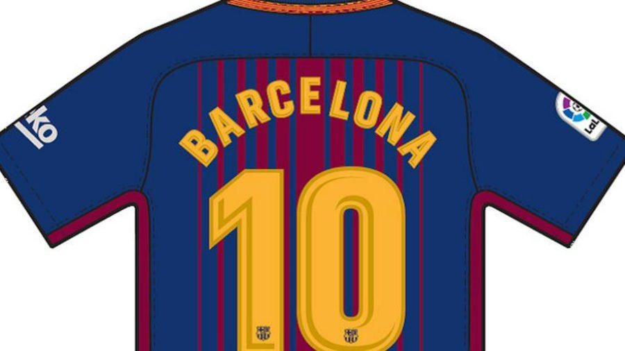 Así lucirá la parte trasera de la camiseta especial.   Foto Por FC Barcelona a653a05885f