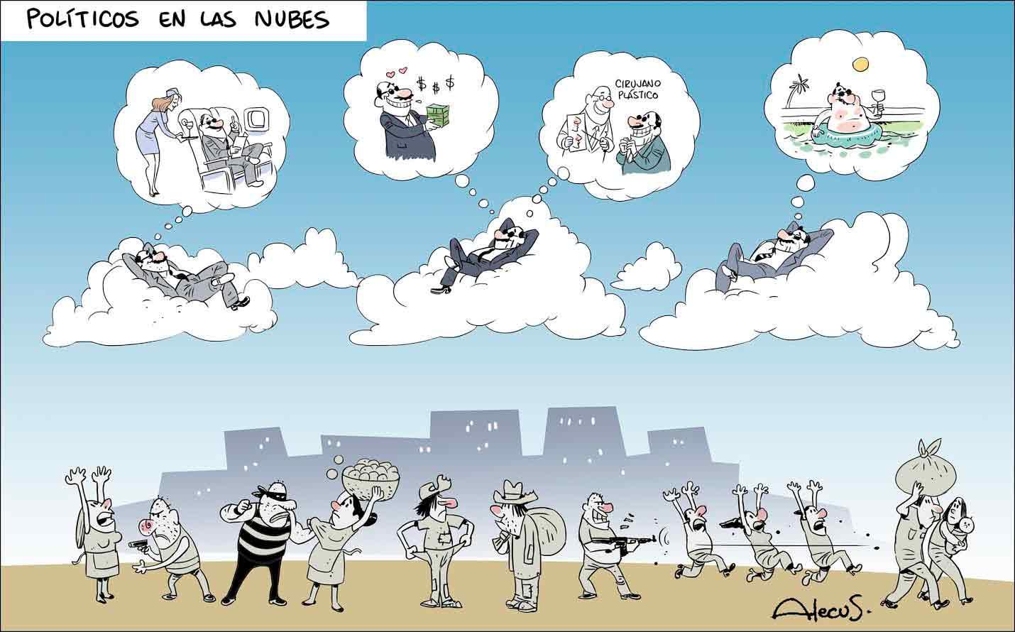 Políticos en las nubes