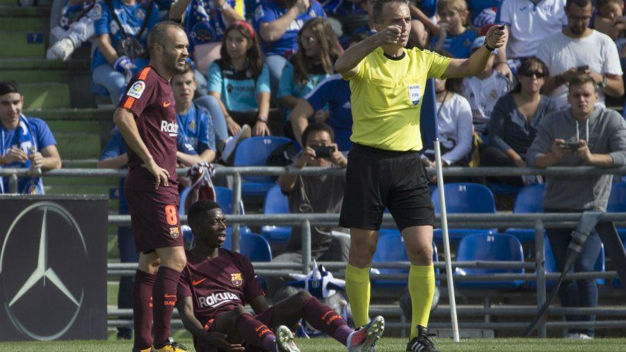 Dembelé, el fichaje estrella del Barça, estará de baja hasta cuatro meses