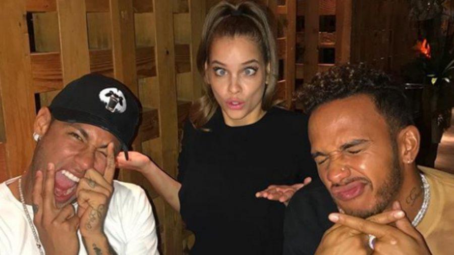 Neymar se va de fiesta con Hamilton tras su pelea con Cavani