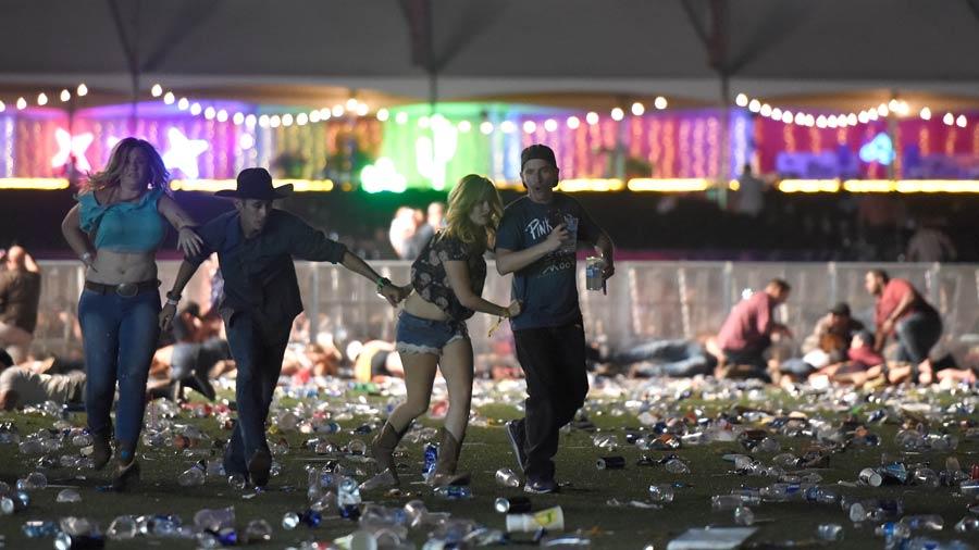 Donald Trump visitó a las víctimas del ataque de Las Vegas