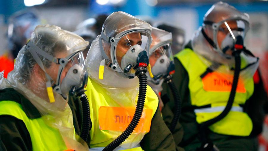 Simulacro ataque químico