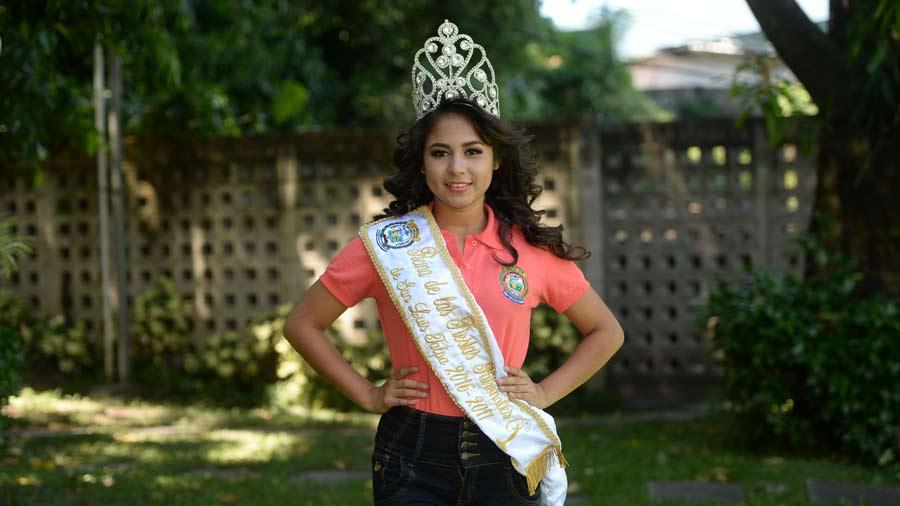 Candidatas a reina San Luis Talpa