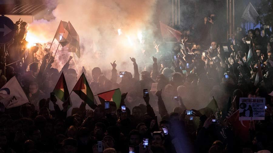 Protesta contra el reconocimiento de JerusalÈn como capital de Israel