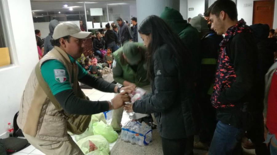 Rescatan a 109 migrantes de un tráiler en Tamaulipas
