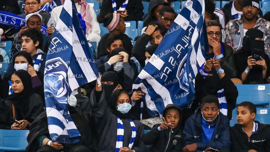 Mujeres en los estadios de Arabia Saudi