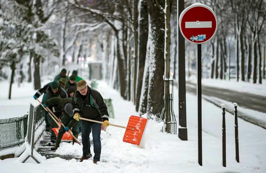 Nieve en ParÌs