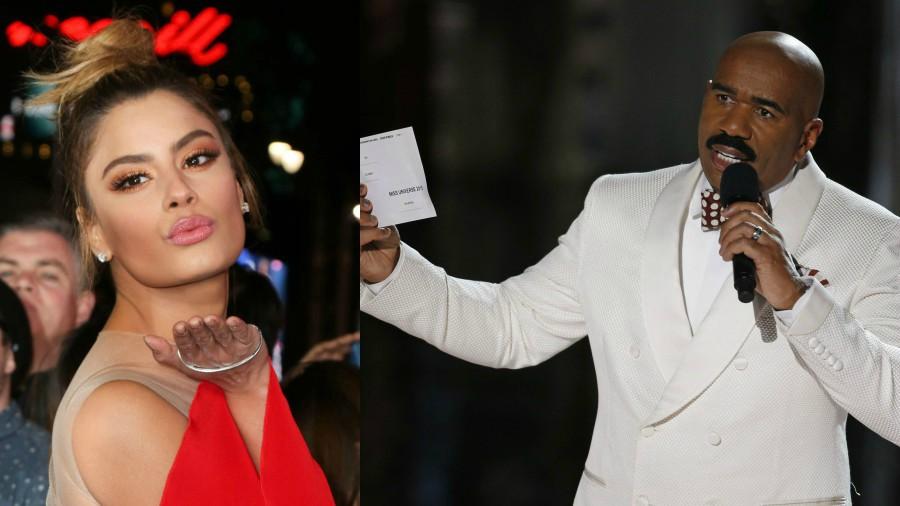 Ariadna Gutiérrez y Steve Harvey se reencontraron tras dos años