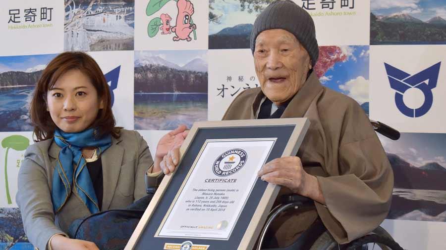 Un japonés de 112 años, el hombre más longevo del mundo