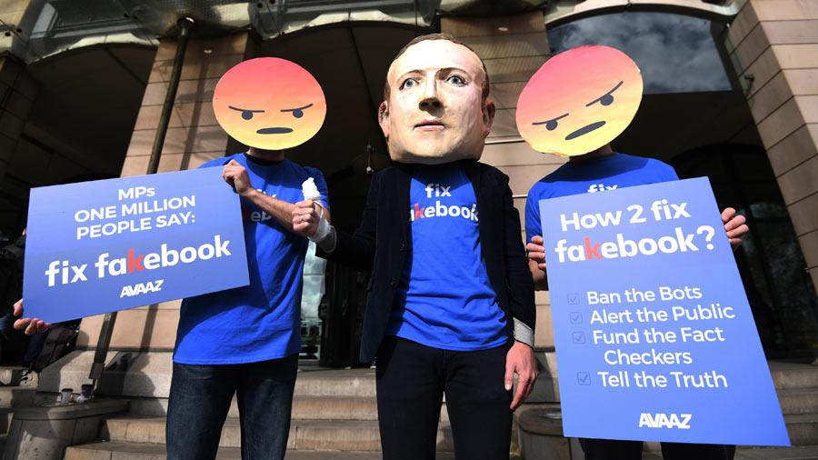 Protestas por facebook