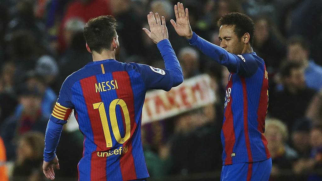 Messi y Neymar conformaron una letal dupla en el ataque del Barcelona