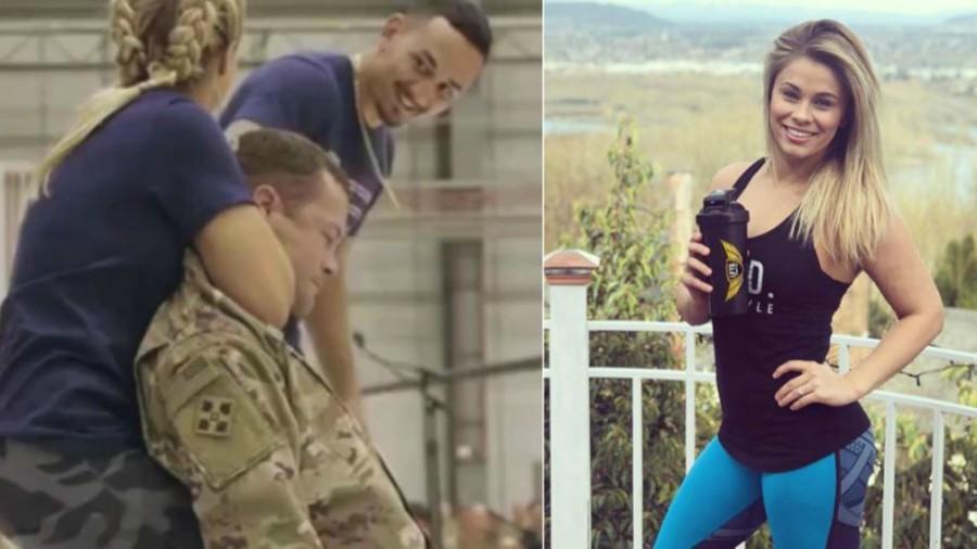 Una luchadora de artes marciales mixtas deja inconsciente a un soldado estadounidense