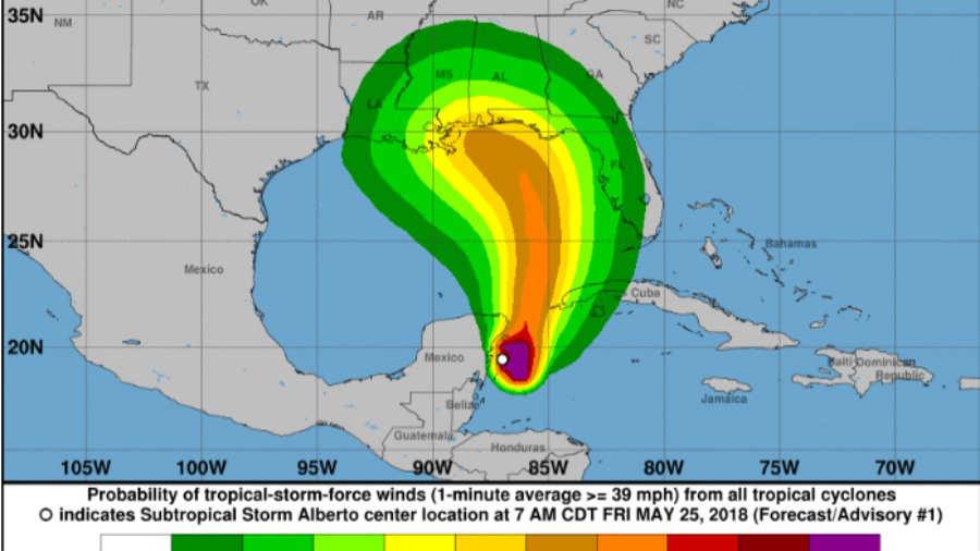 A punto de formarse la primera tormenta tropical del año