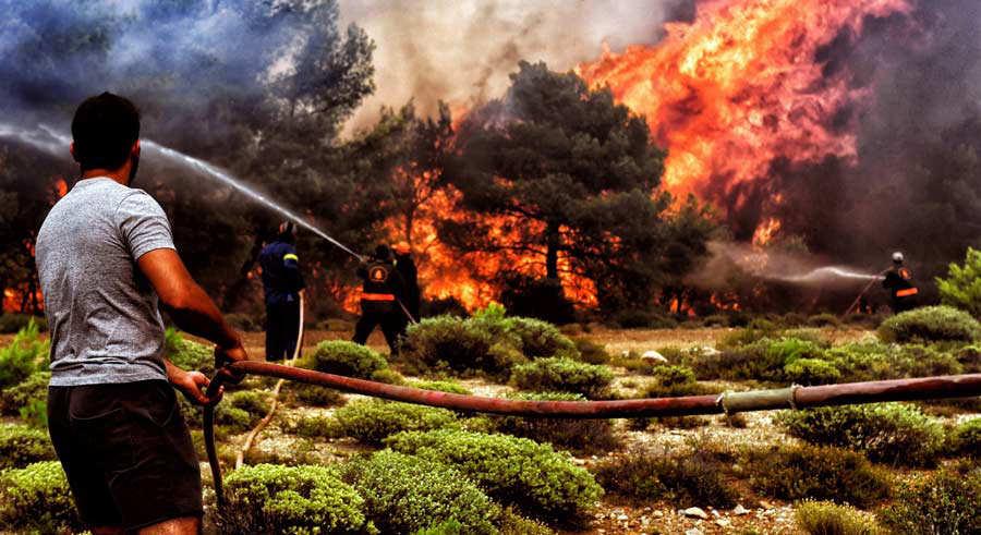 Incendio Grecia